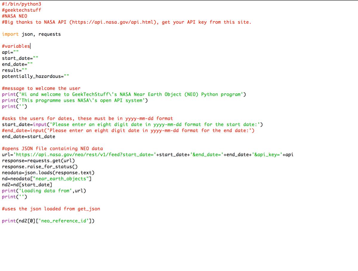 Nasa Neo V2 Python Geek Tech Stuff