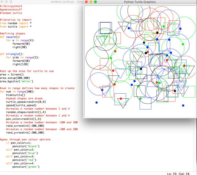Random Turtle Shapes (Python) – Geek Tech Stuff
