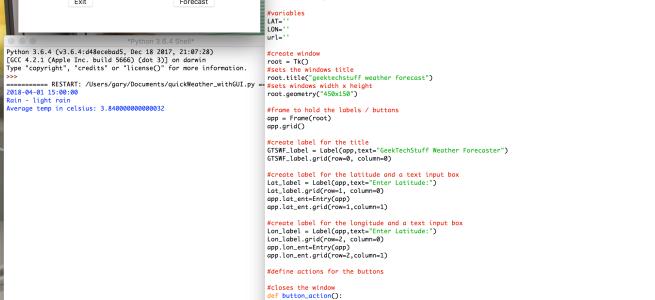 Weather Forecast GUI V1 (Python) – Geek Tech Stuff