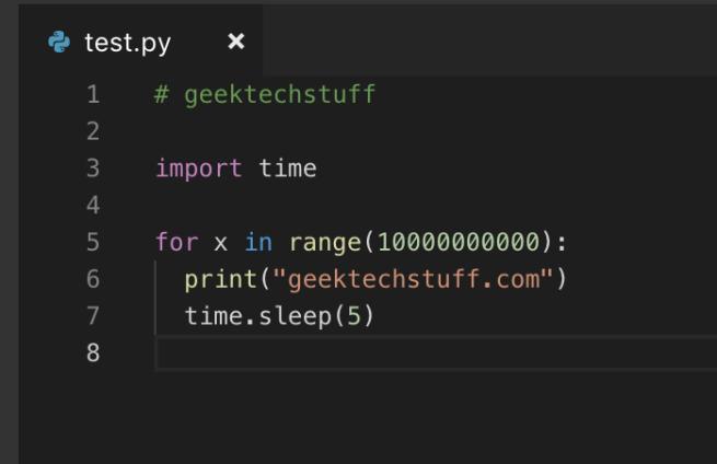 Python Script to print a line lots