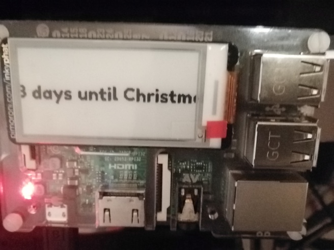 How many days until Christmas? InkyPHAT not displaying full message
