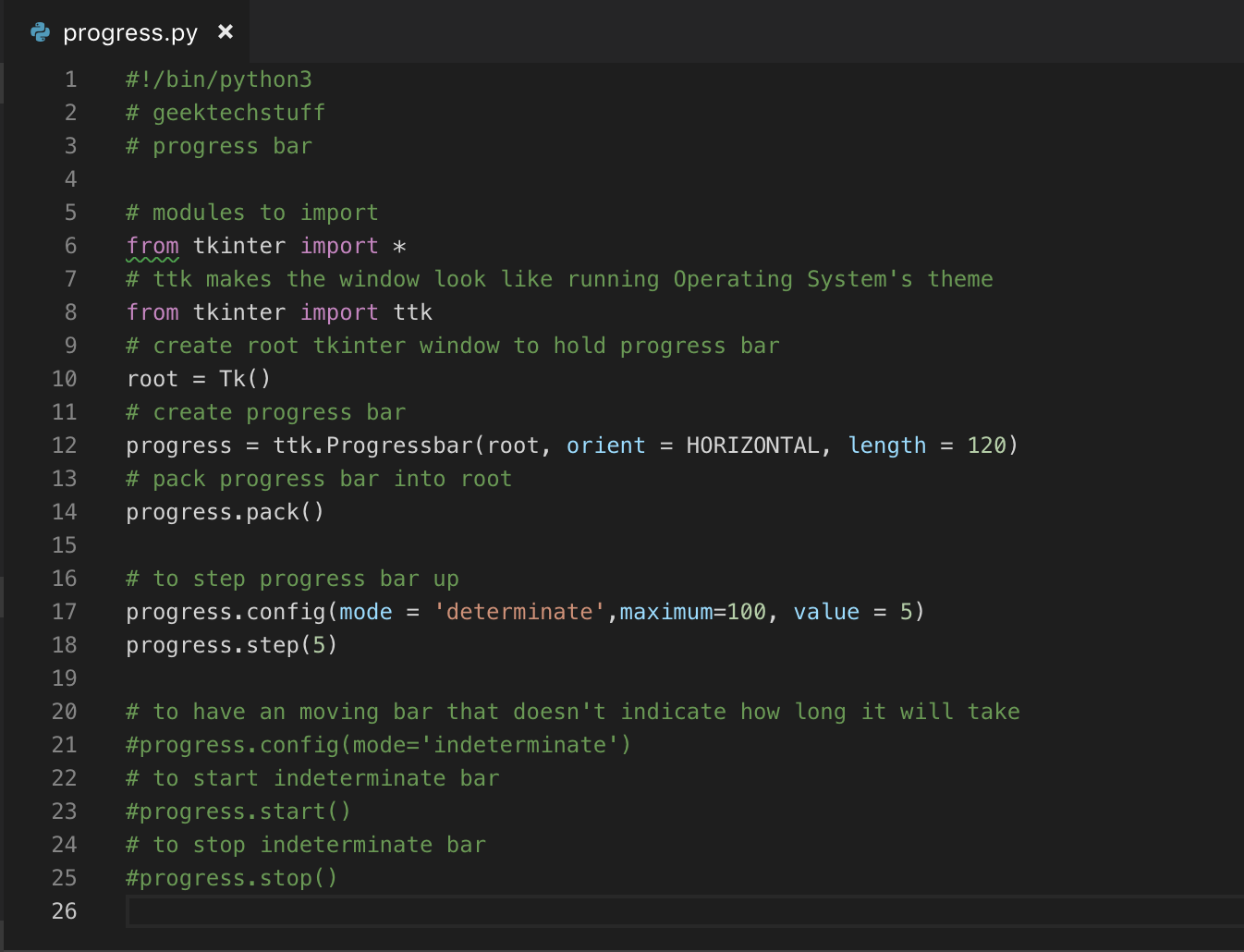 Creating A Progress Bar (Python) – Geek Tech Stuff
