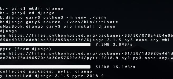 Python - Installing Django