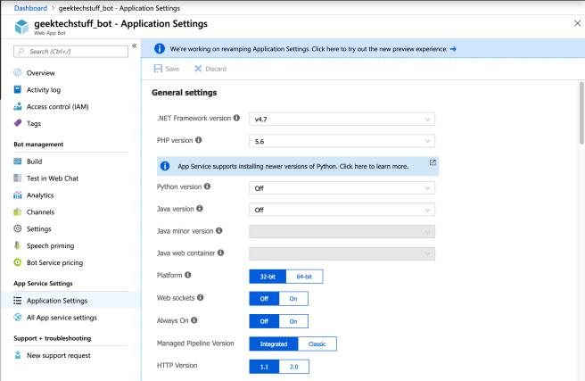 geektechstuff_azure_bot_application_settings