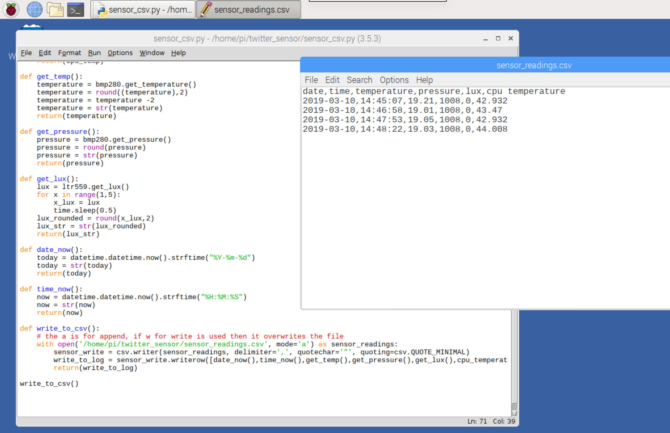 Saving Sensor Readings To CSV (Python / Raspberry Pi) – Geek