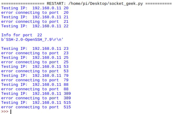 Port_Test against SSH enabled MacBook