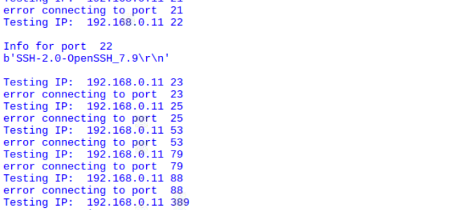 Port_Test against SSH enabled MacBook