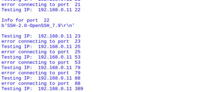 Creating A Port Scanner (Python / Raspberry Pi) – Geek Tech Stuff
