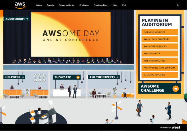 AWS' AWSOME DAY landing page