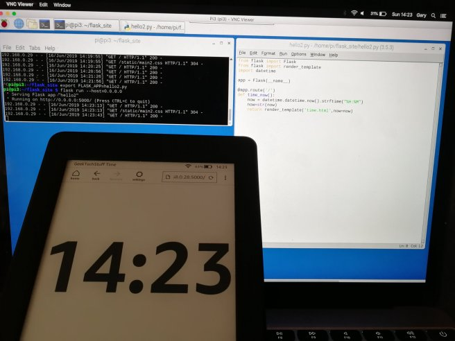 A little bit of Python, some Flask and an Amazon Kindle can be used as an eInk clock.