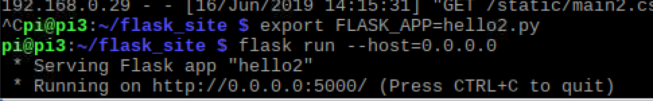 Running Flask