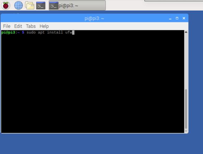 Installing UFW on Raspbian