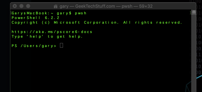 PowerShell Core running on Mac OS Mojave (10.14)