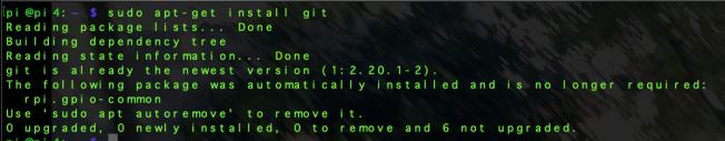 sudo apt-get install git
