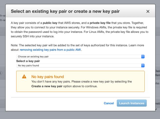 Create SSH key pair