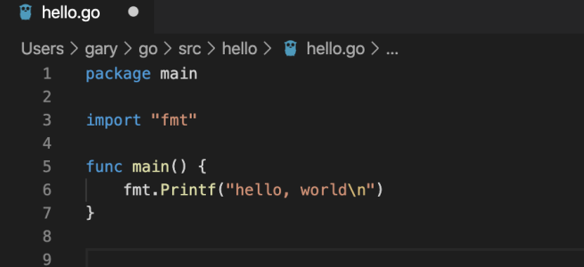 Hello World in Go
