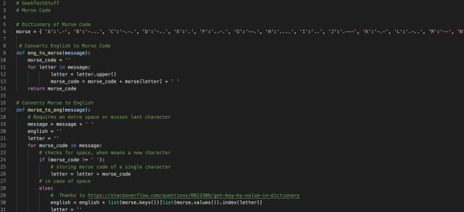 Python Morse Code Translator