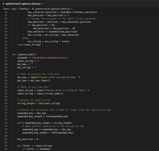 Vigenere Cipher (Python)