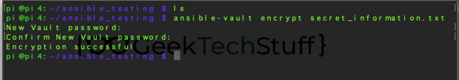 ansible-vault encrypt secret_information.txt