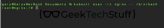 kubectl exec -it nginx -- /bin/bash