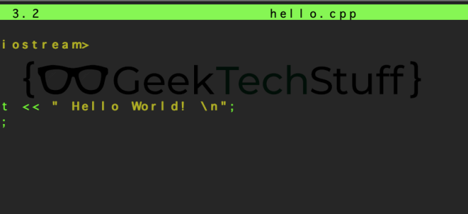 "An example ""Hello World"" in C++"