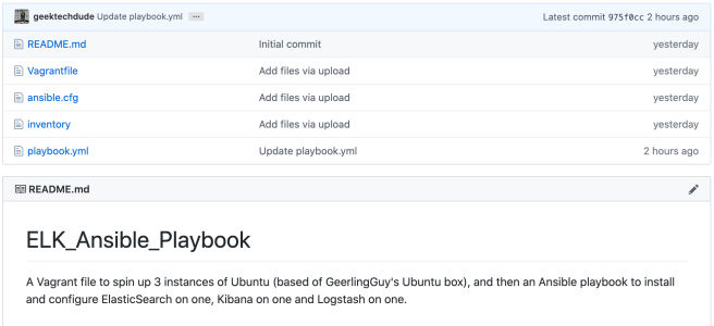 The ELK_Ansible_Playbook on GitHub