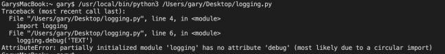 Python AttributeError: partially initialized module