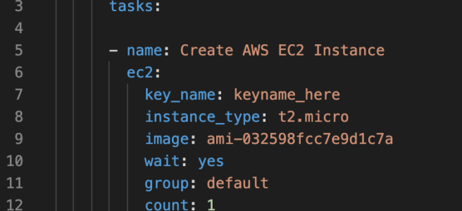 Ansible AWS EC2 Instance Creation