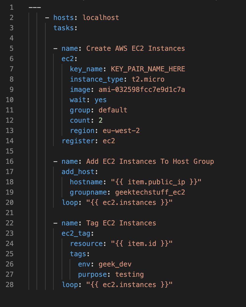 Using Ansible with AWS – Creating Multiple EC2 Instances, Tagging Them and ELK (AWS/Ansible)