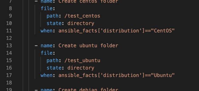 Ansible's when command