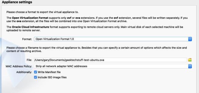 geektechstuff_virutal_box_export_settings