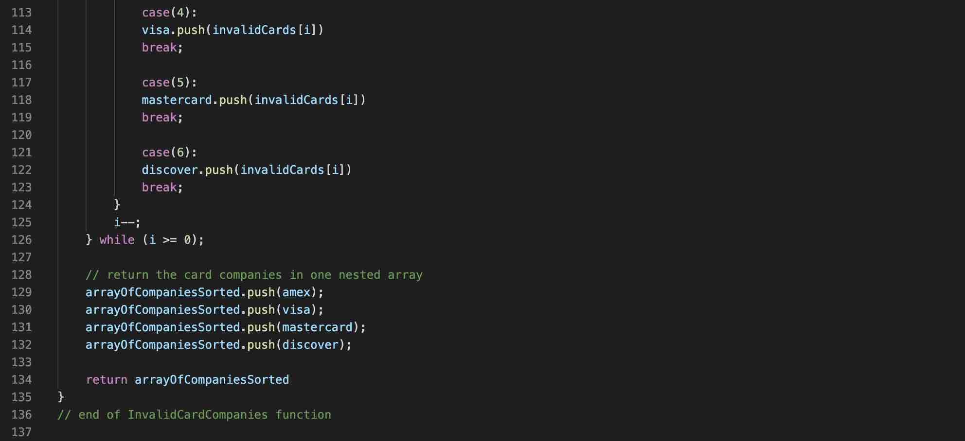 Credit Card Number Checker JavaScript – Geek Tech Stuff